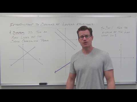 Introduction to Systems of Linear Equations (TTP Video 47)