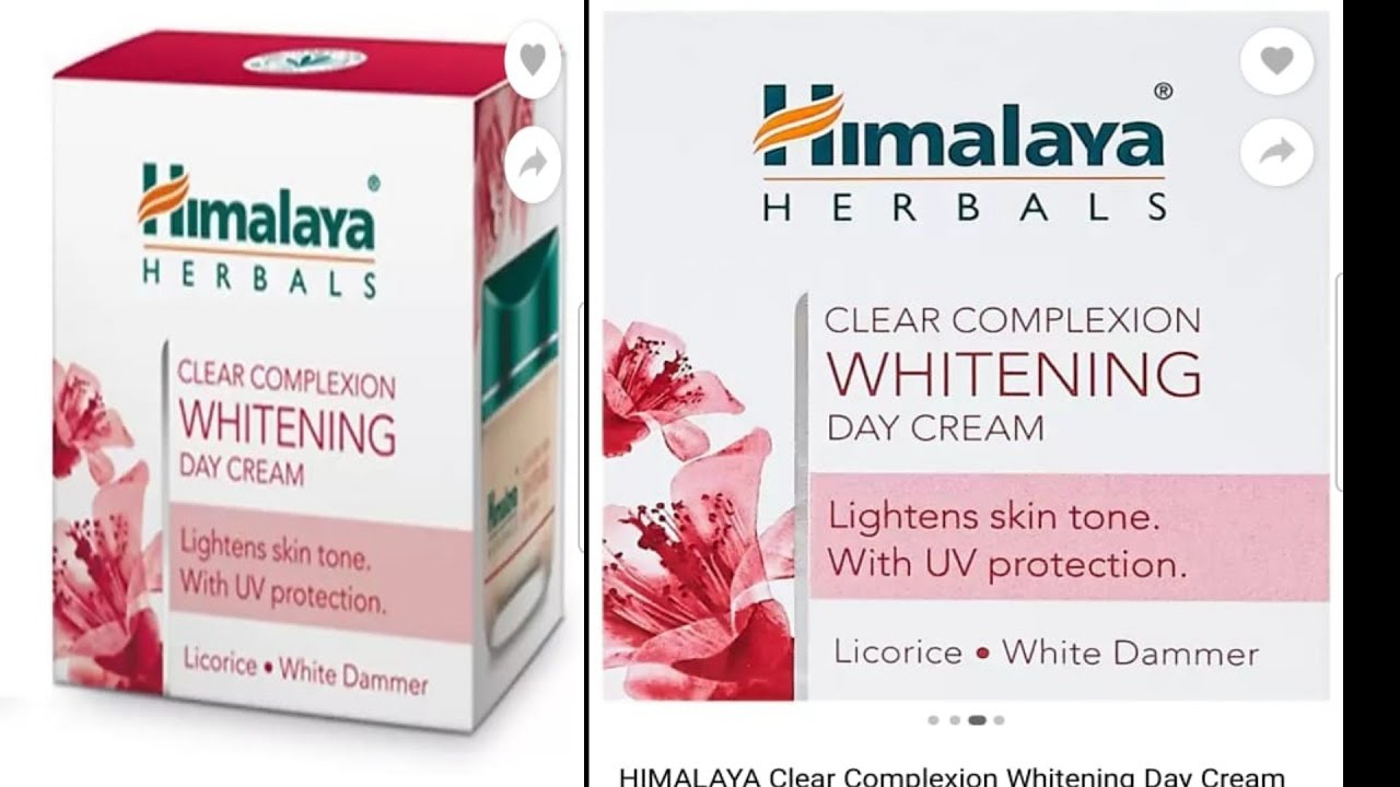Himalaya herbal clear complexion whitening day cream lightness skin tone with UV protection review
