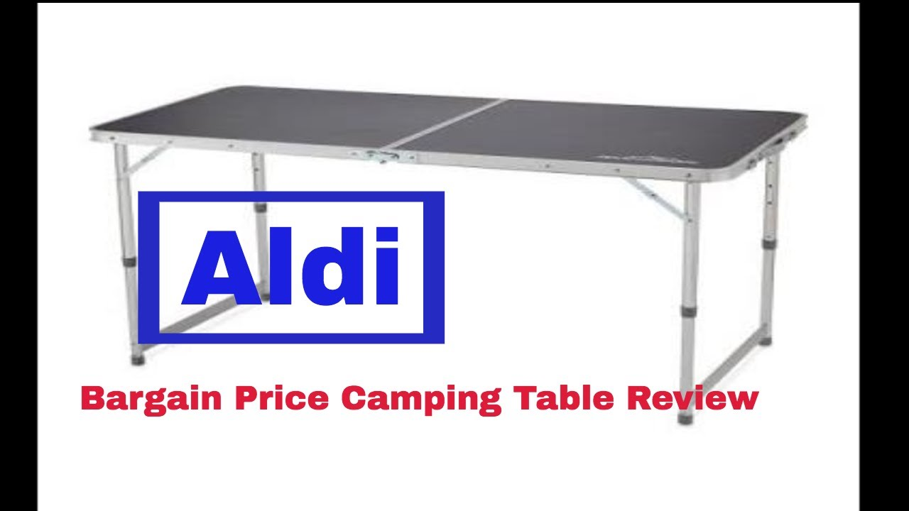 aldi camping table 2019