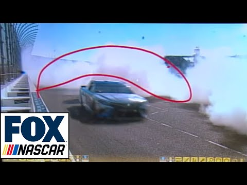 The bizarre wreck that took out Kevin Harvick and Kurt Busch at Loudon I NASCAR RACE HUB