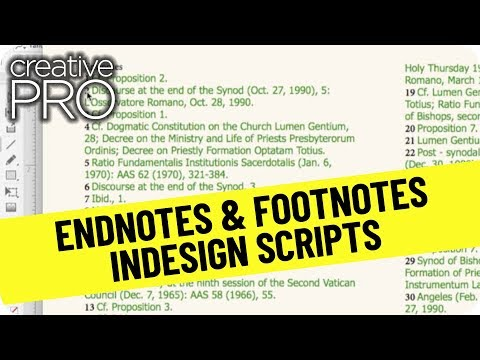 CreativePro Video: How to Create Footnotes from Endnotes in