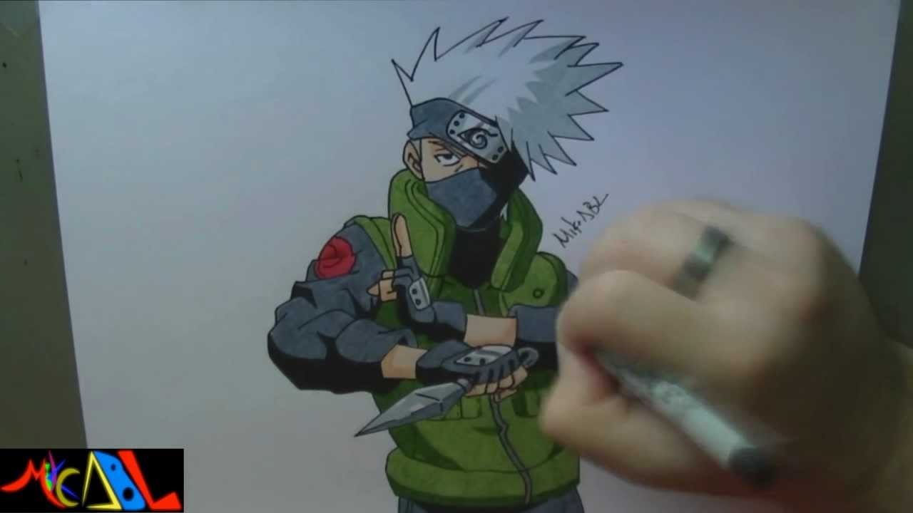 Dibujando a: Kakashi - YouTube