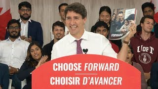 Justin Trudeau presents Liberal Party's full platform