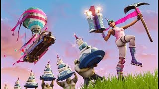 TRYING TO GET THE FORNITE BIRTHDAY BACK BLING!!!! (Fortnite: Battle Royale)