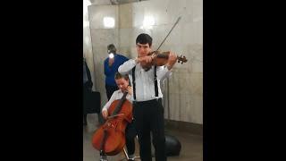 Игра престолов - музыка в метро (ЧЕХОВСКАЯ)