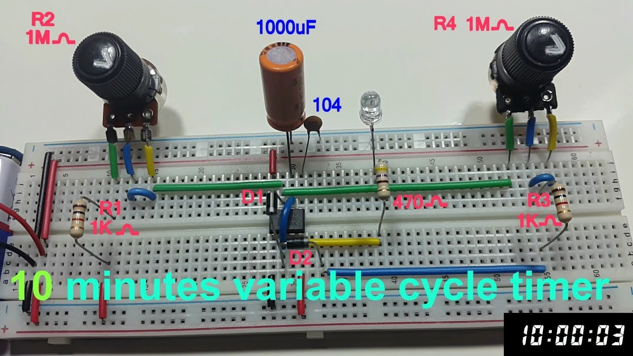 10 Minutes Cycle Variable Timer Using 555 In Tamil English Minute Circuit Astable Multivibrator