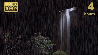 【雨音】倉庫に降る雨の音でリラックスする4時間