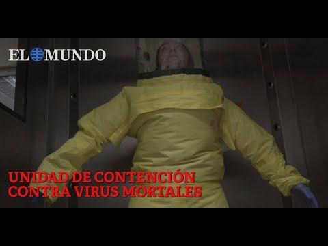 Unidad de contención contra virus mortales en el Hospital Carlos III de Madrid/El Mundo