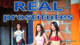 REAL STREET PROSTITUTES OF MEDELLIN,COLOMBIA, RED LIGHT DISTRICT