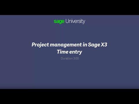 Sage Business Cloud Enterprise Management (formerly Sage X3)