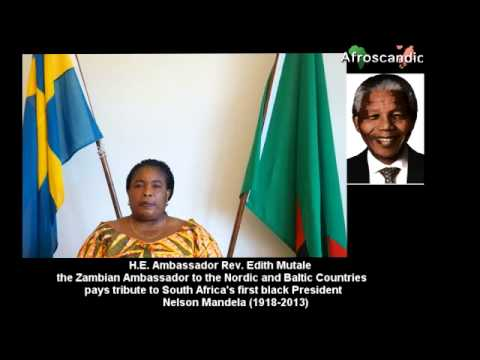 Ambassador Rev  Edith Mutale paid tribute to Nelson Mandela
