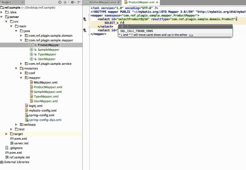 IntelliJ IDEA Mybatis Plugin - Statements Generating