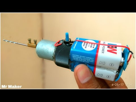 How to make Drilling Machine at Home - [ PORTABLE ]