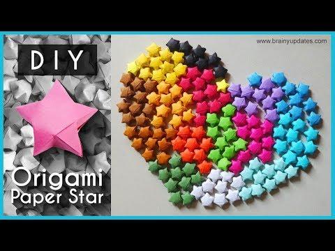 DIY Origami Paper Stars | Lucky Stars | 3d Paper Stars tutorial 2018