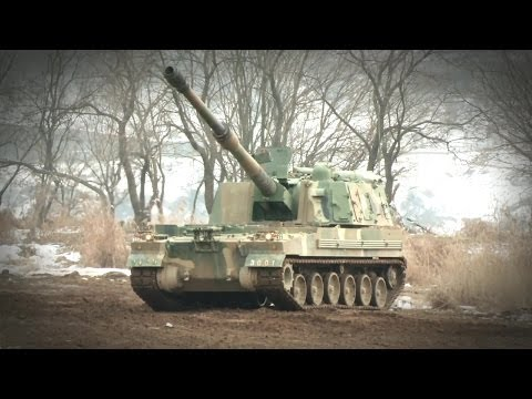 ROK Ministry Of National Defense - K-9 155mm Self-Propelled Howitzer Live Firing [1080p]