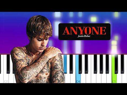 Justin Bieber - Anyone | Piano Tutorial
