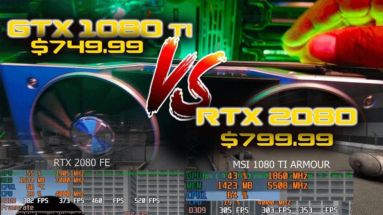 CS:GO GTX 1080 TI vs RTX 2080 performance highest settings   AMD 2700x csgo  in 4k 1080p and 720p