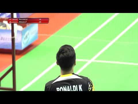 LIMA Badminton 2015 (MS) : BINUS (Ronaldi) vs USAKTI (Steven)