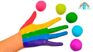Play and Learn Colors with Watercolor Painting,  Rainbow Body Paint and Play-Doh for Kids