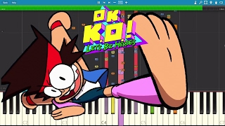 Download IMPOSSIBLE REMIX - OK KO.! Let's Be Heroes - Intro Theme Song - Piano Cover MP3 song and Music Video