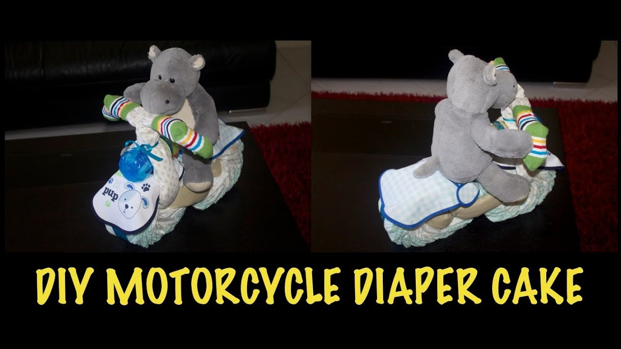 Motorcycle Diaper Cake How To Make