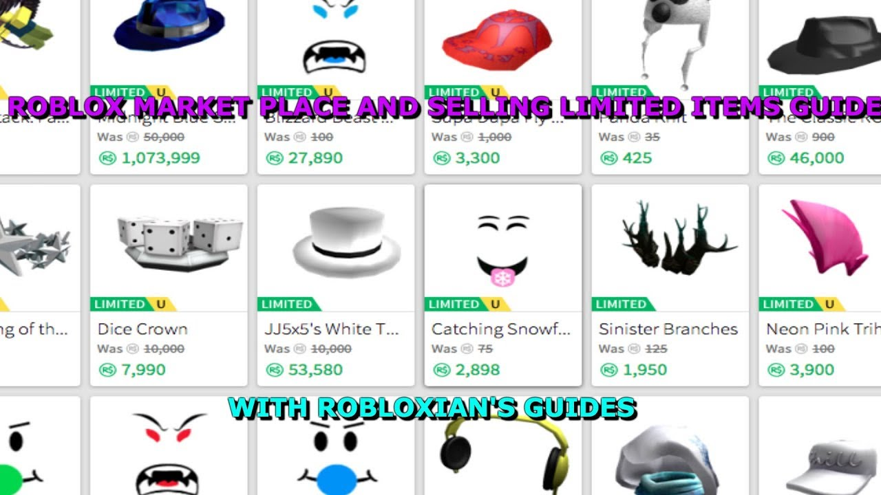 Roblox Marketplace And Selling Limited Items Guide Youtube