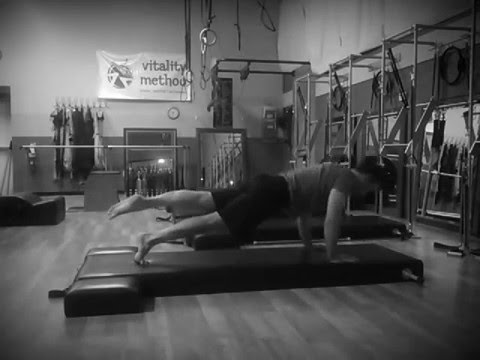 Pilates mat work. Recorded in an old-time looking style for fun.
