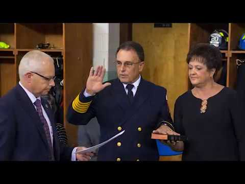 Bristol Tennessee Fire Chief, Mike Carrier, Swears-In