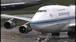 Syrian Arab Airlines Boeing 747SP YK-AHA at London Heathrow