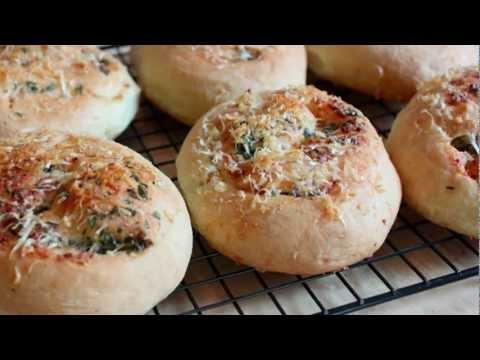 Garlic Parmesan Dinner Rolls Recipe - No-Knead Italian Dinner Rolls