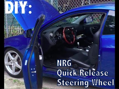 DIY: How to Install NRG Short hub Quick Release & Steering Wheel on RSX