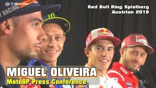 Miguel Oliveira é um CÓMICO!!! Press Conference MotoGP - Red Bull Ring Spielberg Austrian 2018