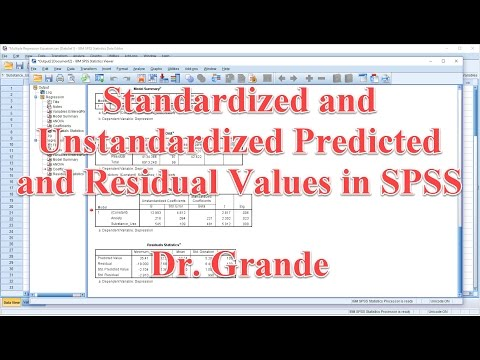 Calculating Unstandardized and Standardized Predicted and Residual Values in SPSS and Excel