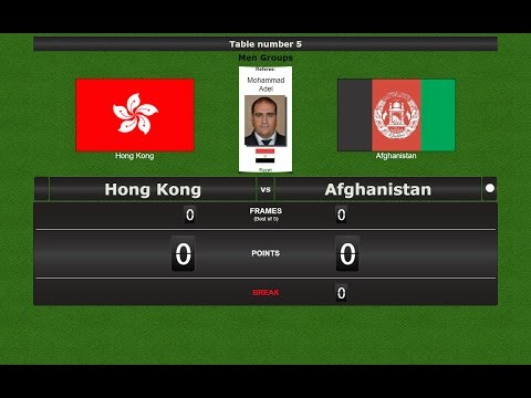 Snooker Team Men Groups : Hong Kong vs Afghanistan