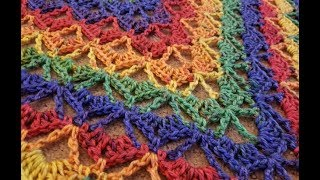 The Gliding Fans Shawl Crochet Tutorial!