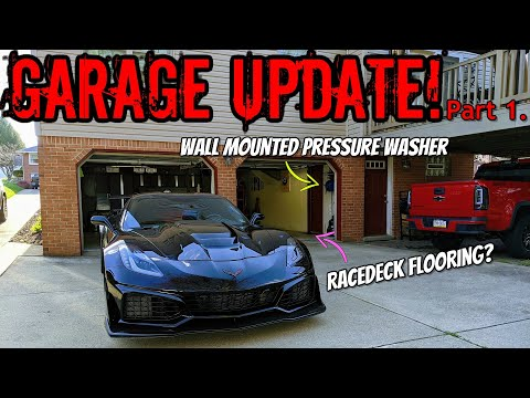 wall-mounted-pressure-washer-setup-and-racedeck-flooring-to-make-your-garage-look-brand-new!-part-1.