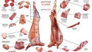 Разделка бараньей туши(Русские субтитры) - Cutting lamb carcasses(EN subtitles).