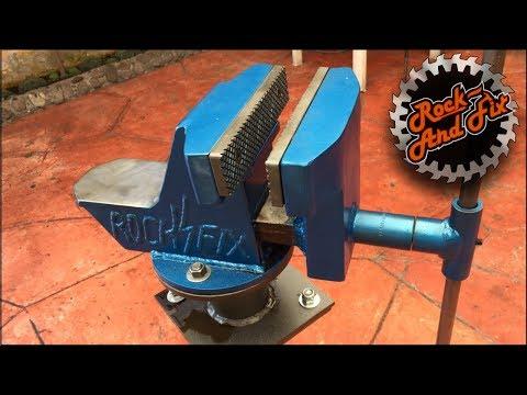 Como hacer un Tornillo de Banco paso a paso   Homemade Bench Vise