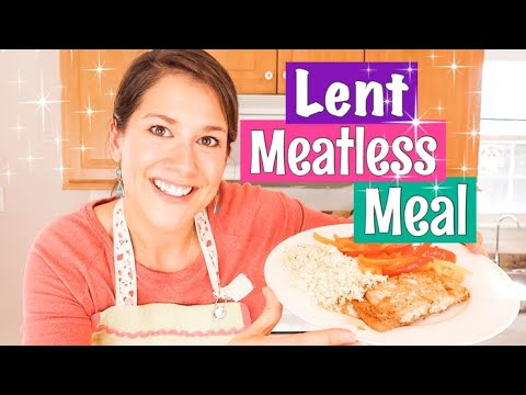 LENT MEATLESS MEAL 2020 || QUICK AND EASY whole meal in 20 mins!