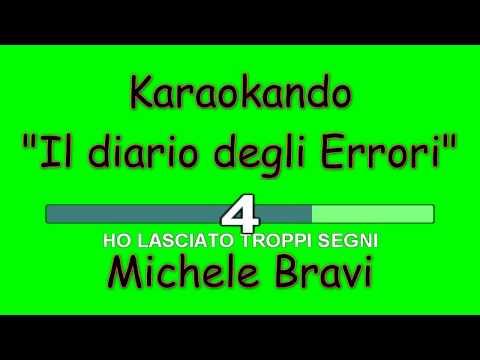 Karaoke Italiano - Il diario degli errori - Michele Bravi  Testo