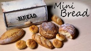 Polymer Clay Tutorial; 5 Types Of Bread - Miniature Food