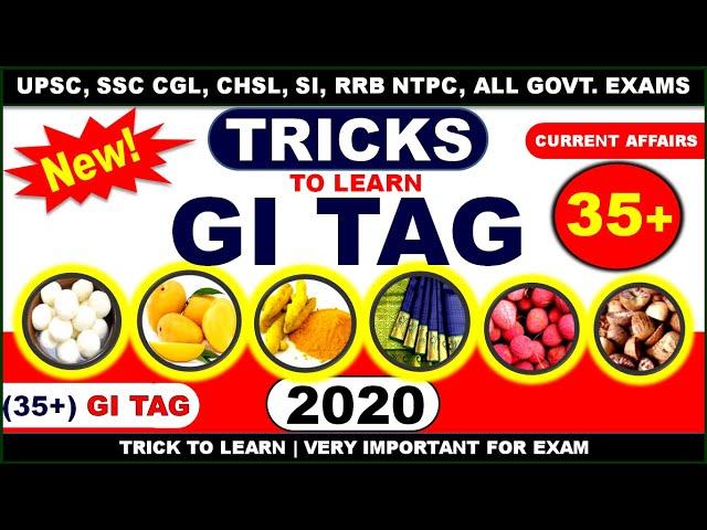 GI Tag Trick | GI Tag list 2020 in Hindi | GI Tag Current Affairs