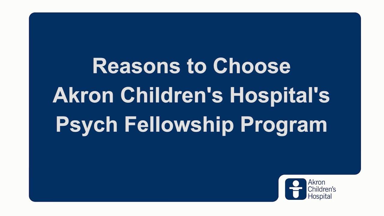 Child and Adolescent Psychiatry Fellowship Program