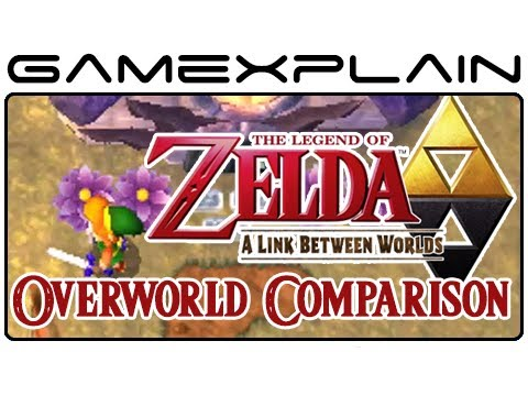 Zelda: A Link Between Worlds & Link to the Past Overworld Comparison 2  (Head-to-Head)