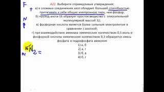 Тесты по химии. Азот и его соединения. А22 ЦТ 2010