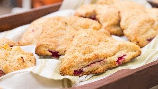 Peach & Raspberry Scones