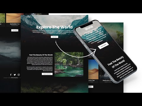 Build A Complete Responsive Website From Scratch | Travel Landing Page Website Design Using HTML CSS