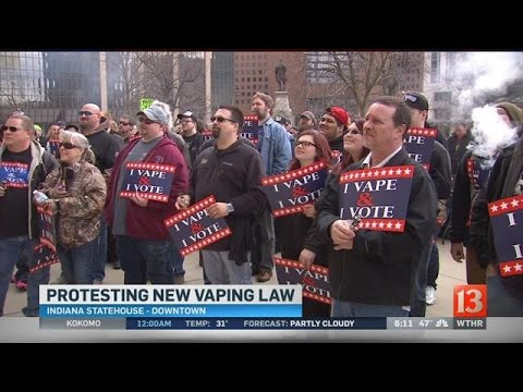 Vaping supporters rally against new state law