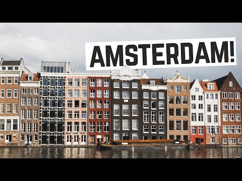 "Amsterdam!! - Eating Dutch Bitterballen, Canal Tour + ""Special"" Brownies 👌  (Netherlands Vlog)"