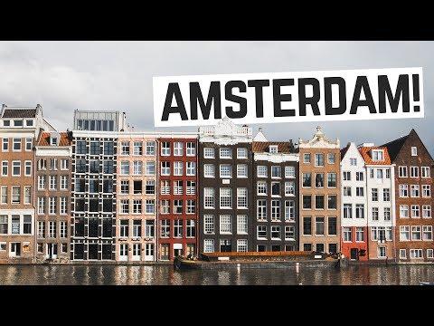 "Amsterdam!! - Eating Dutch Bitterballen, Canal Tour + ""Special"" Brownies 👌  (Netherlands Vlog)"